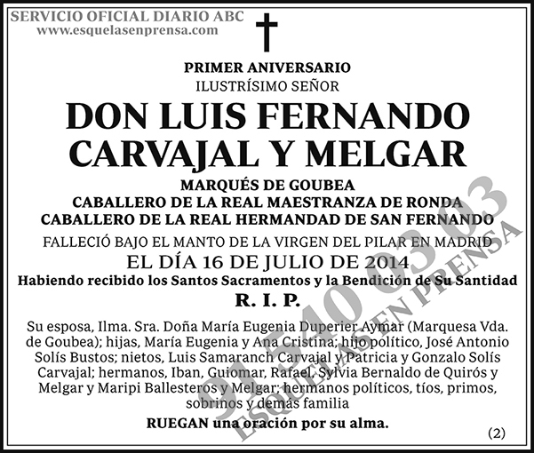 Luis Fernando Carvajal y Melgar